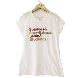 Sale⚡️Christmas Sparkles & Santa Tee